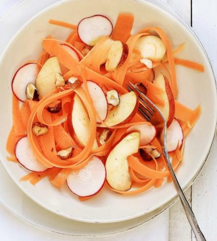 Recette tagliatelles de carottes pour les enfants