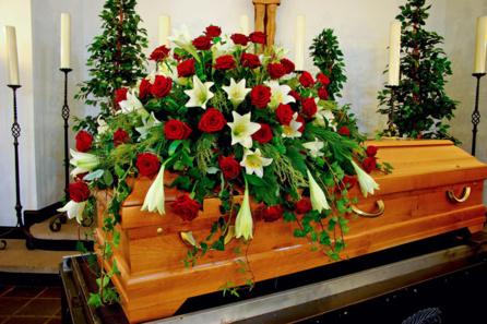Fleurs pour enterrement
