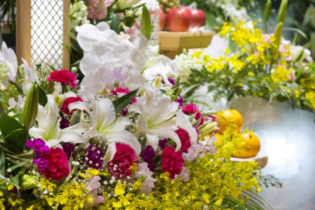 Compositions florales pour enterrement