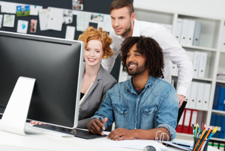 Equipe de développeur et designer web