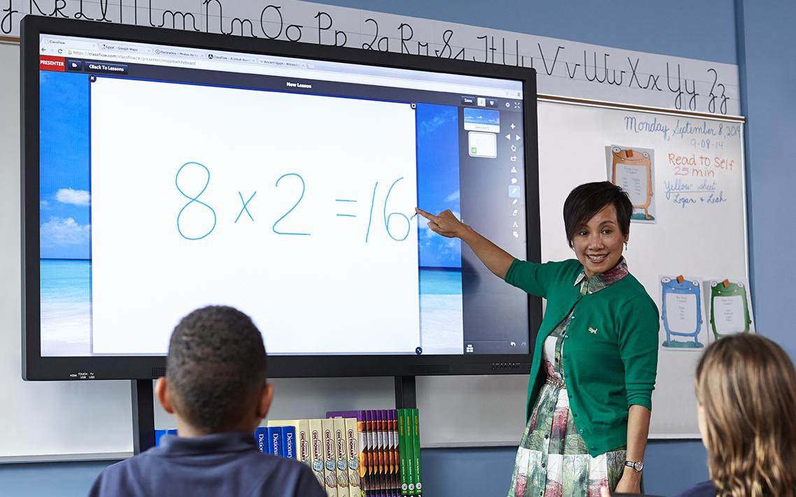 Utilisation de l'écran interactif ActivePanel dans l'éducation
