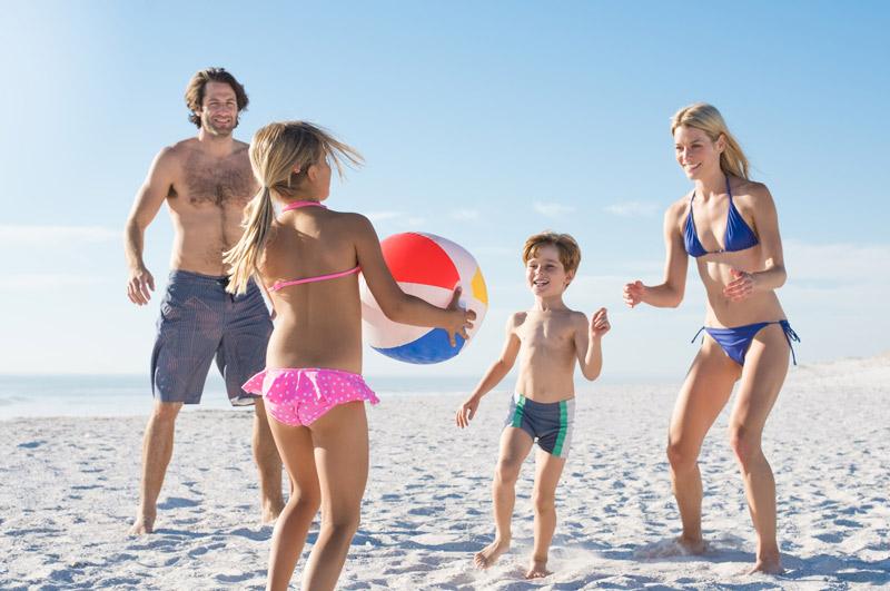 Journée plage en famille