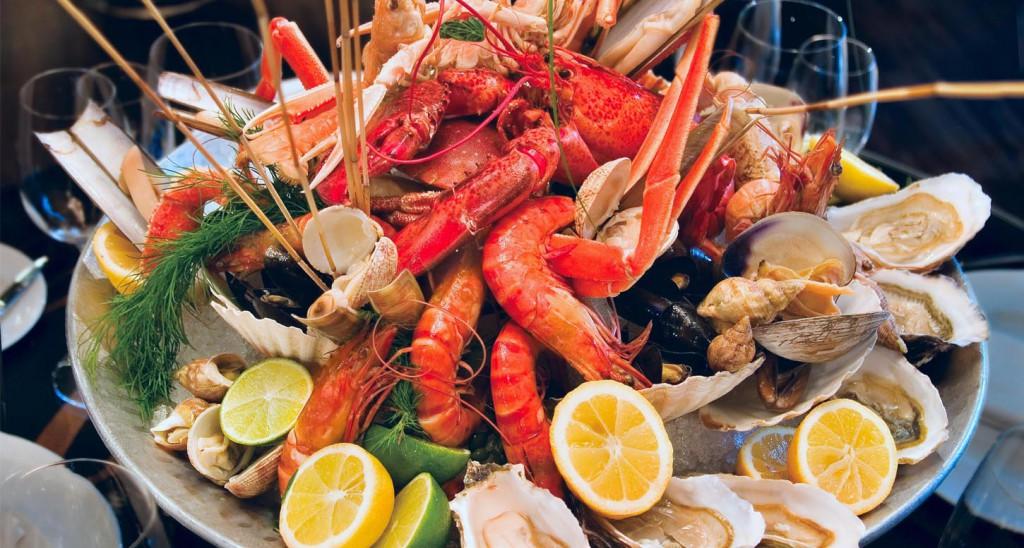 Crustacés et fruits de mer du port de la Cotinière sur Oléron