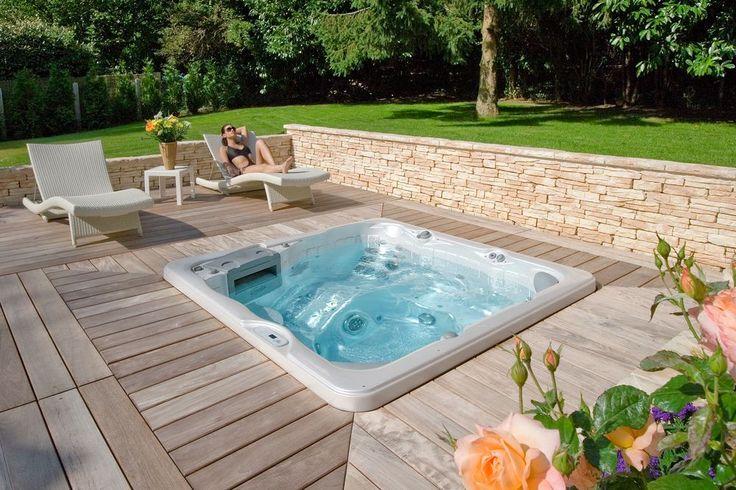 taille jacuzzi amazing spa et muret en pierre de parement. Black Bedroom Furniture Sets. Home Design Ideas