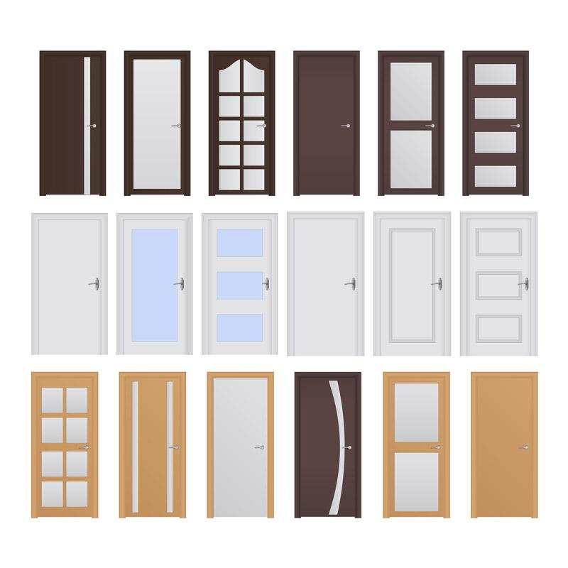 Différents modèles de portes