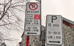 les panneaux de stationnements à montréal