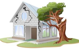 fissures sur les fondations de la maison